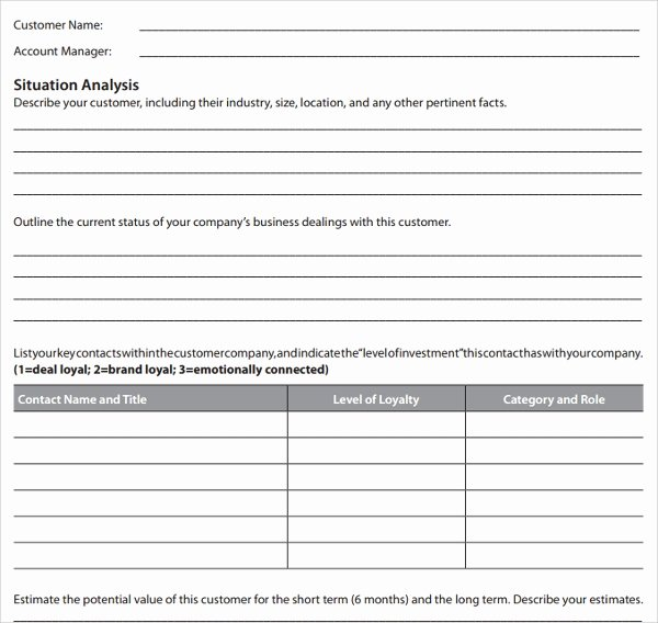 Customer Service Plan Template Best Of Sample Account Plan Template 9 Free Documents In Pdf Word