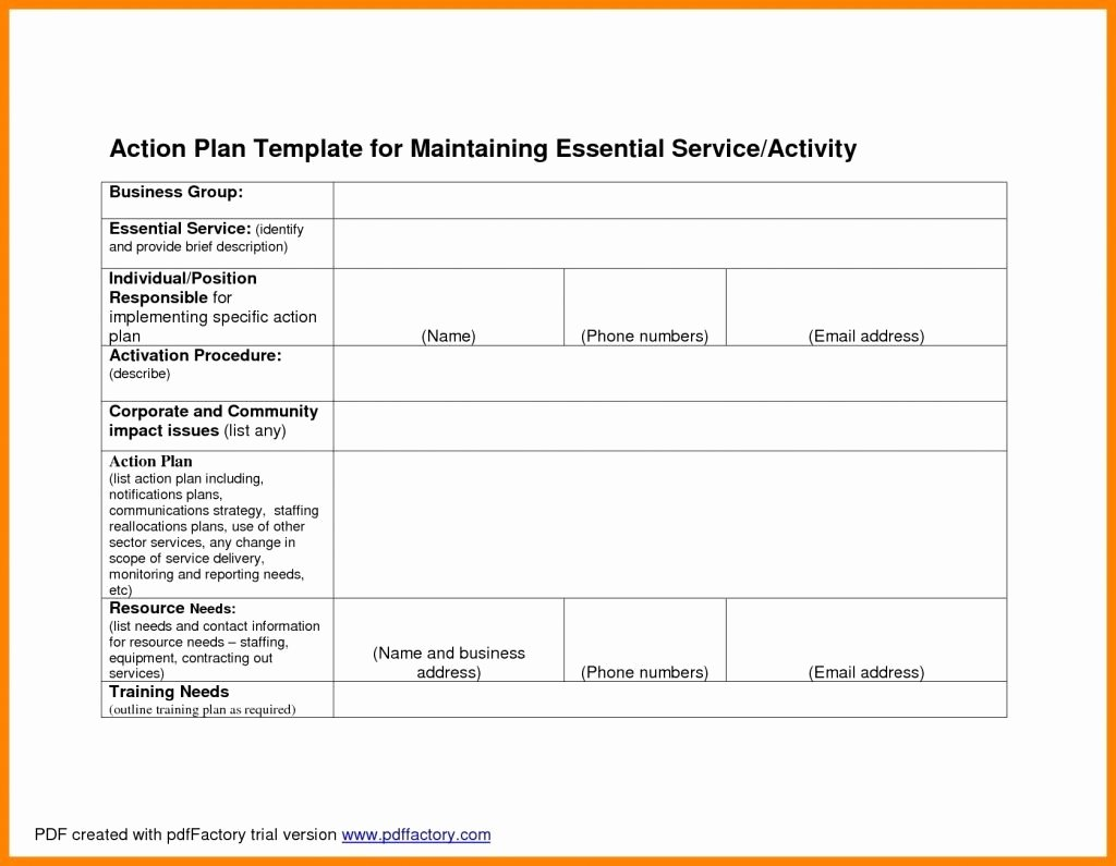 Customer Service Plan Template Fresh Corporate Action Plan for Customer Service
