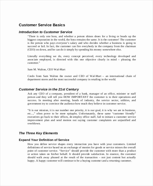 Customer Service Plan Template Inspirational 10 Training Manual Template Free Sample Example