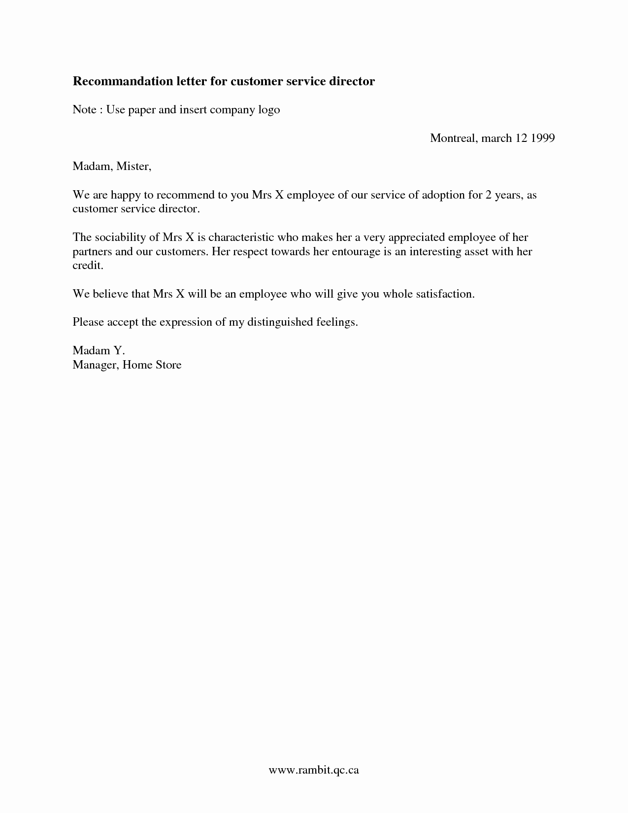 Customer Service Recommendation Letter Awesome Best S Of Customer Reference Letter Template