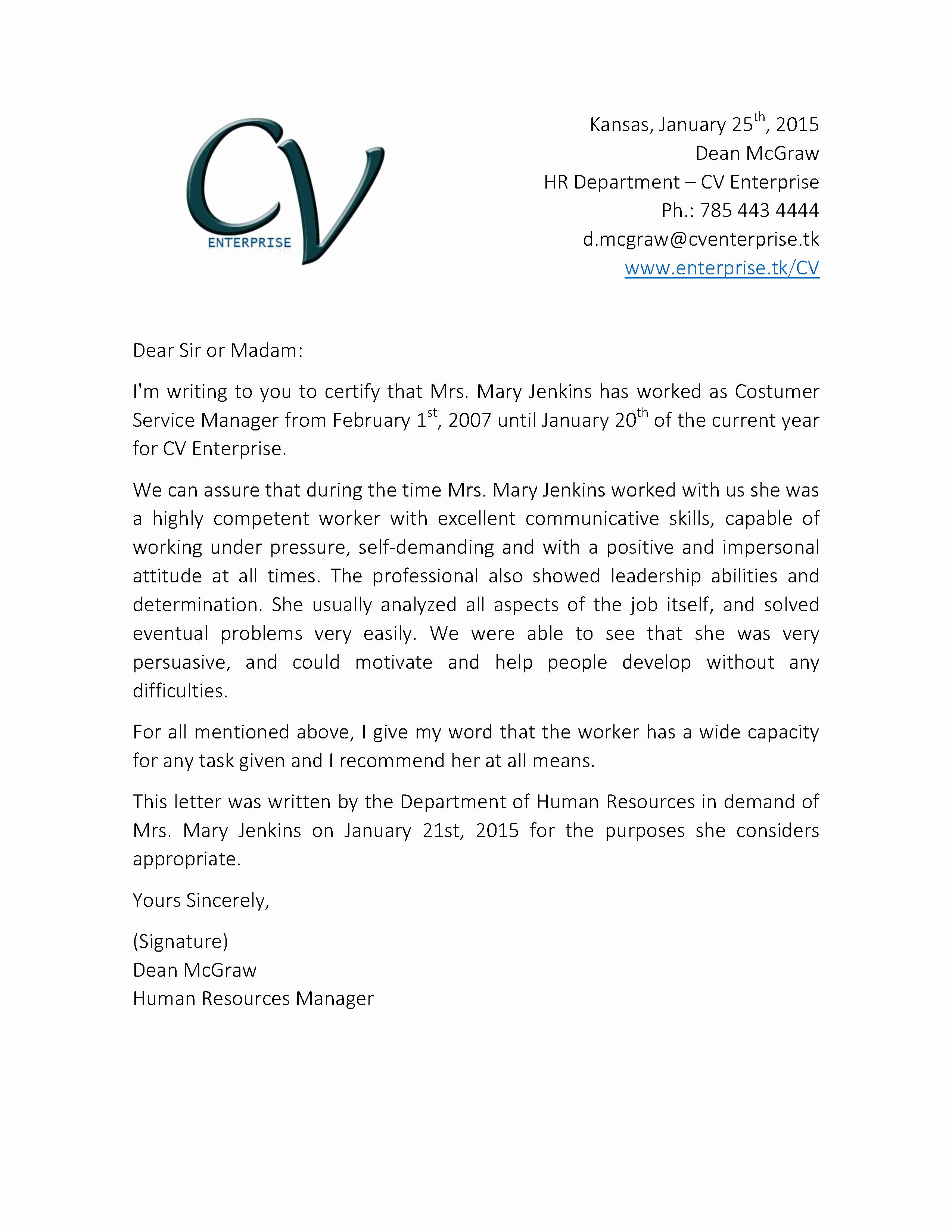 Customer Service Recommendation Letter Elegant Re Mendation Letter for Customer Service Job 2 Grow