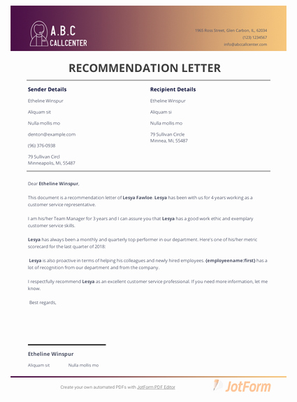 Customer Service Recommendation Letter Lovely sorority Re Mendation Letter Template Pdf Templates