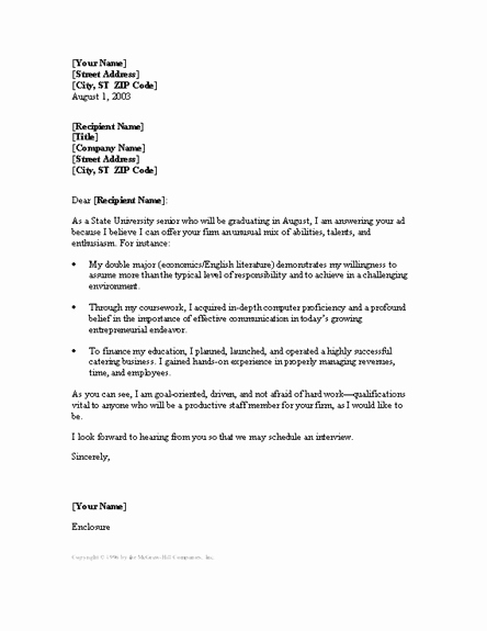Customer Service Recommendation Letter New Cover Letter Examples for Entry Level Customer Service