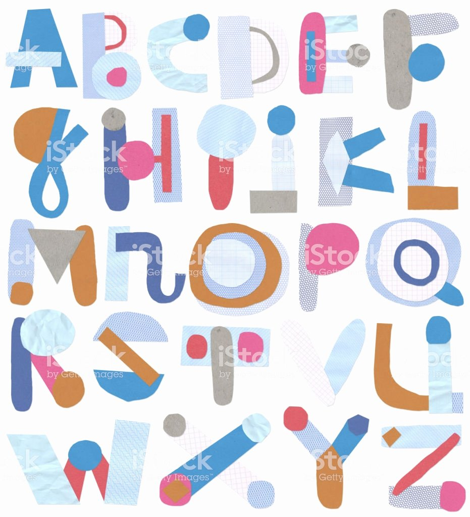Cut Out Alphabet Letters Lovely Paper Cut Out Alphabet Letters Stock Illustration