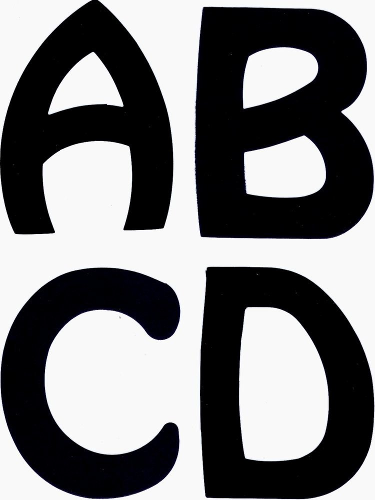 Cut Out Alphabet Letters Luxury 5 Inch Uppercase Die Cut Alphabet Letters for Posters