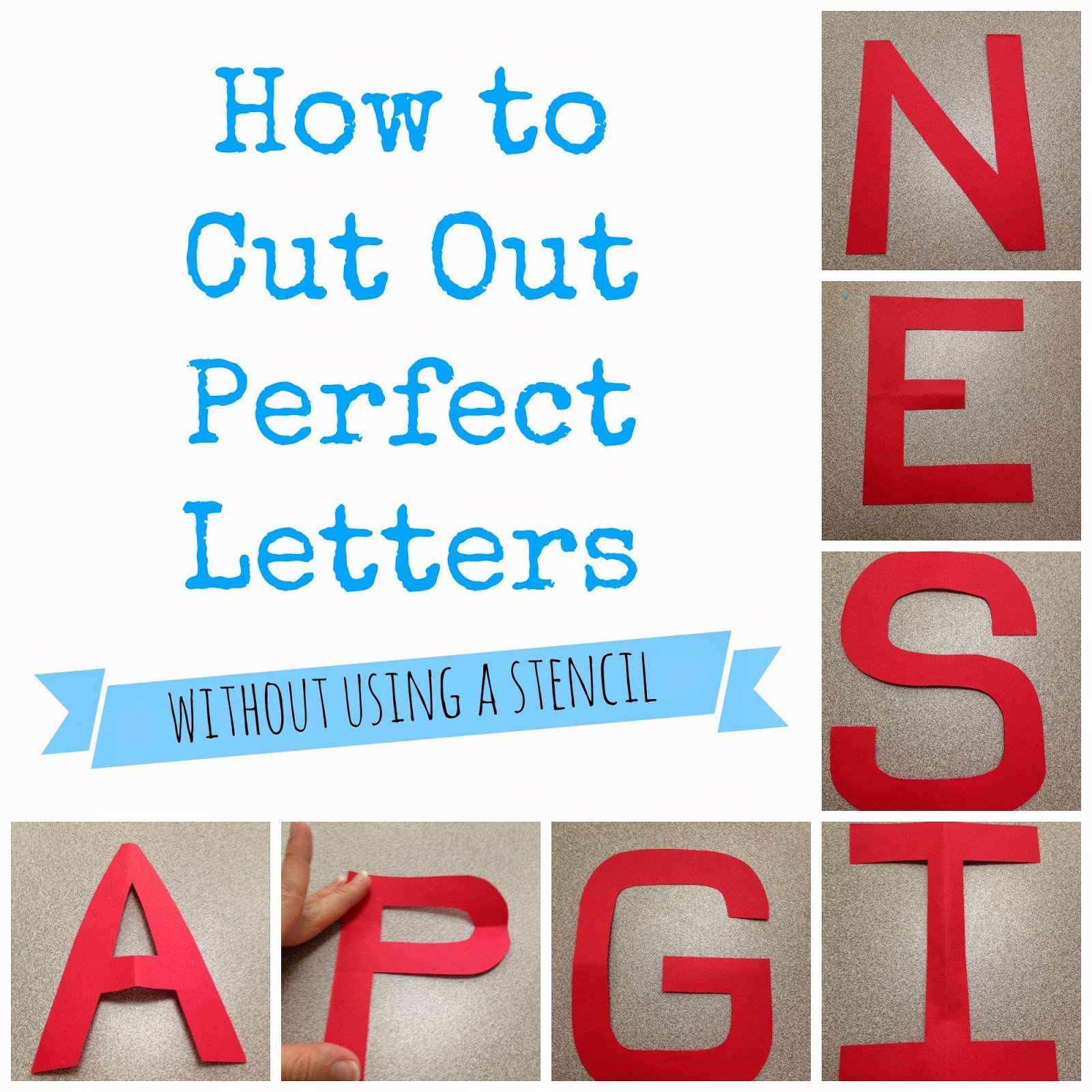 Cut Out Alphabet Letters New the Morgan S How to Cut Out Perfect Letters