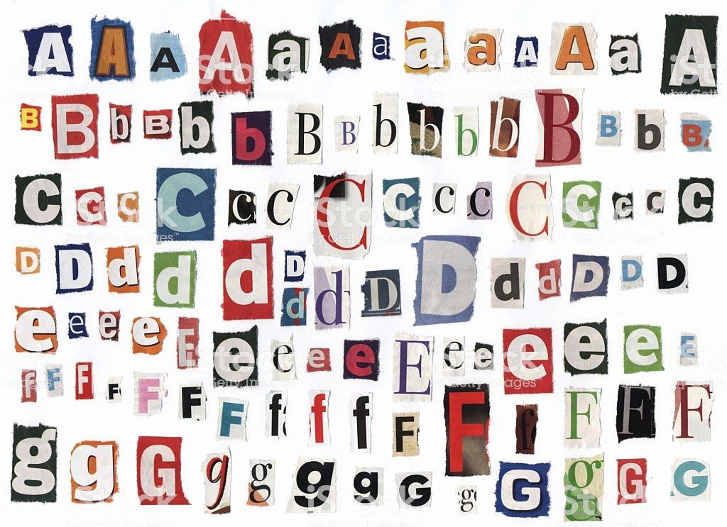 Cut Out Alphabet Letters Unique Different Alphabet Letters Cut Out Newspaper Stock