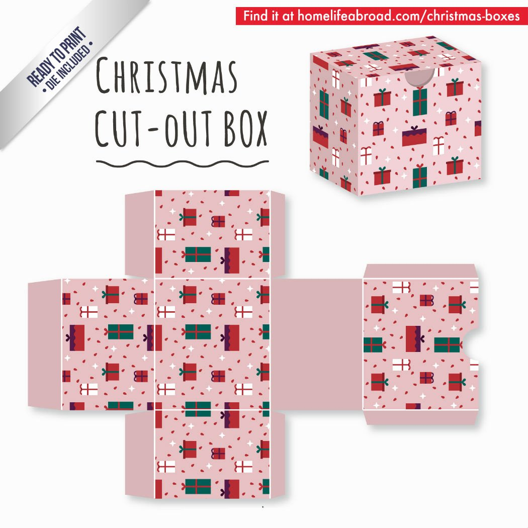 Cut Out Box Template Awesome Mega Collection Of 38 Cut Out Christmas Box Templates Part 2