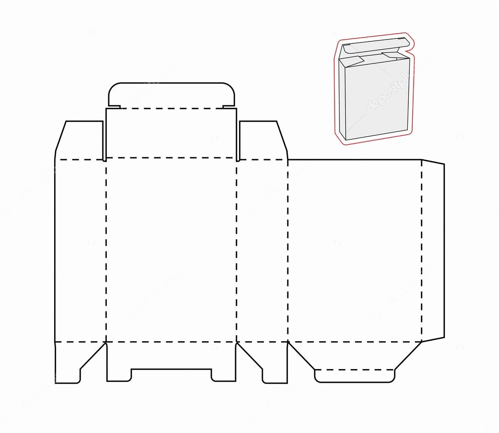 Cut Out Box Template Best Of Template Of A Simple Box Cut Out Paper or Cardboard