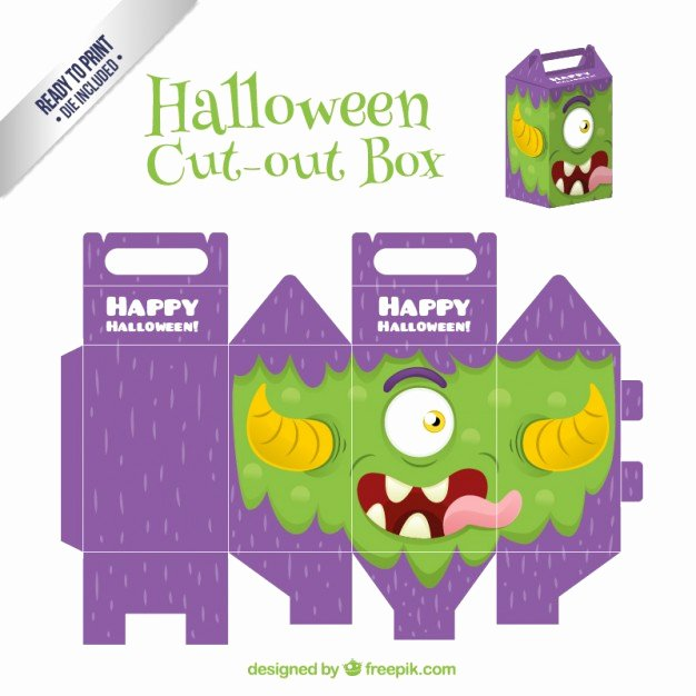 Cut Out Box Template Inspirational Free Halloween Cut Out Box Vector Templates