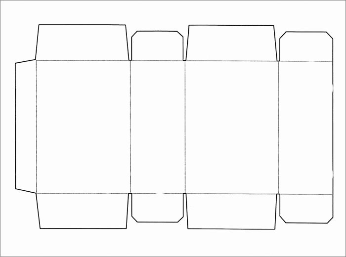 Cut Out Box Template Lovely Box Template
