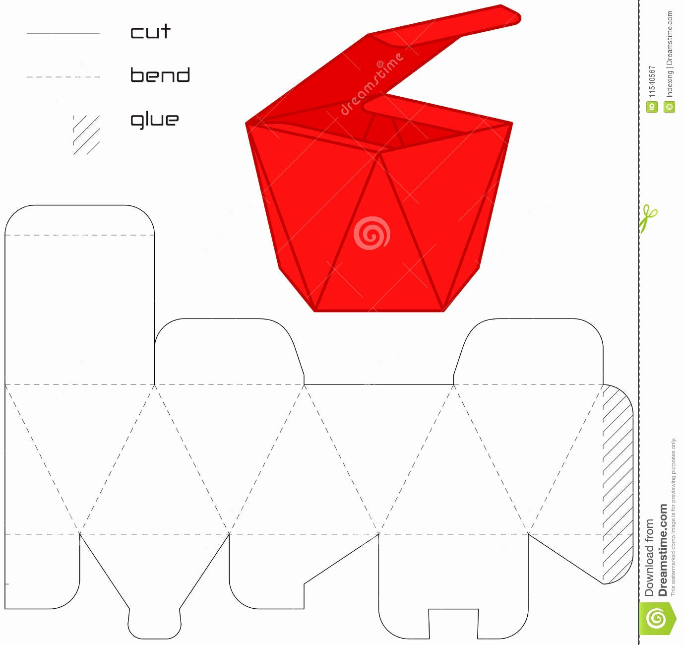 Cut Out Box Template Luxury Template Present Box Red Cut Square Royalty Free Stock