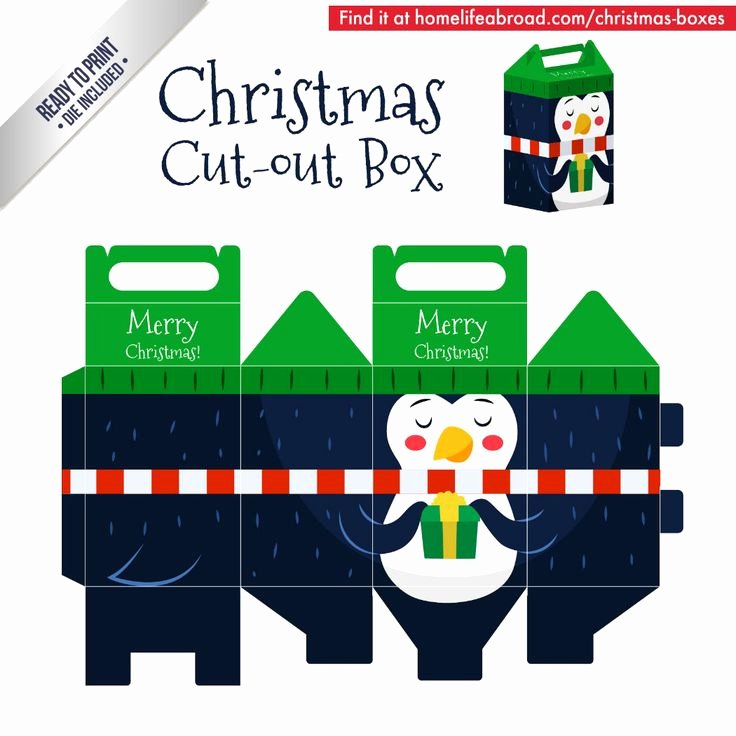 Cut Out Box Template New 39 Best Christmas Cut Out Boxes Diy Images On Pinterest
