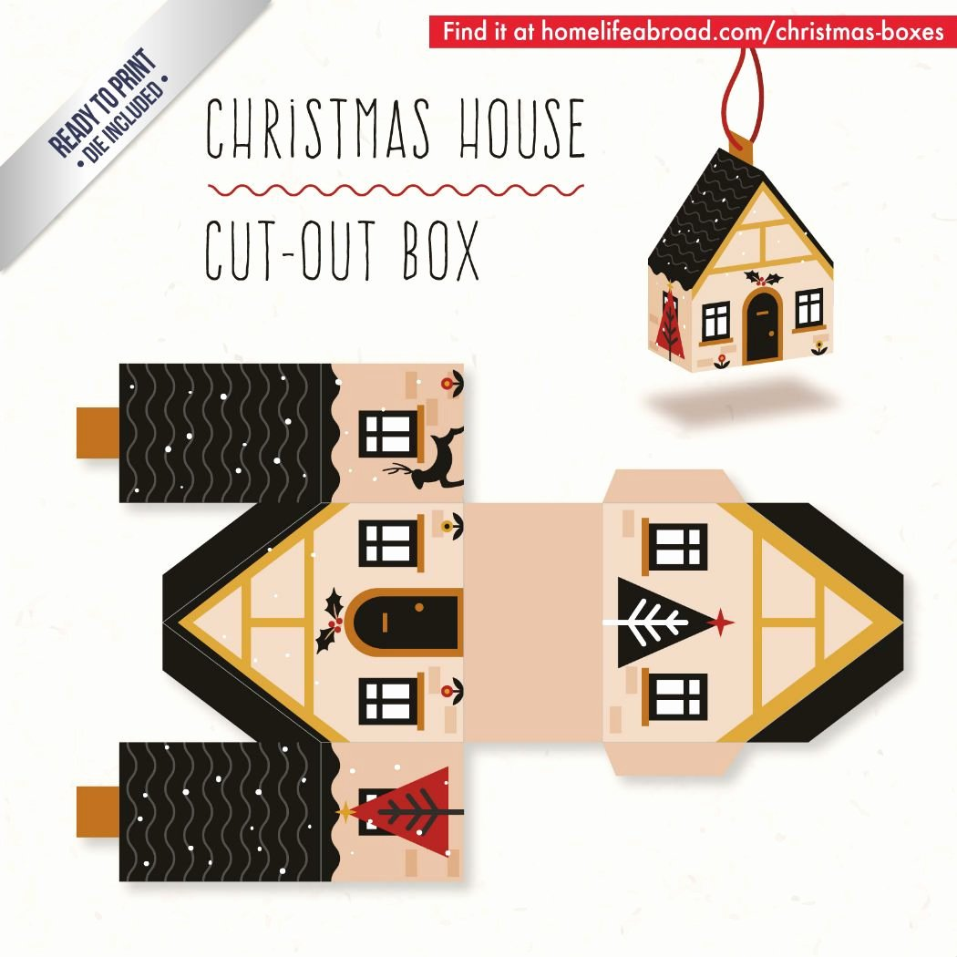 Cut Out Box Template Unique Christmas House Cut Out Box with Ready to Print