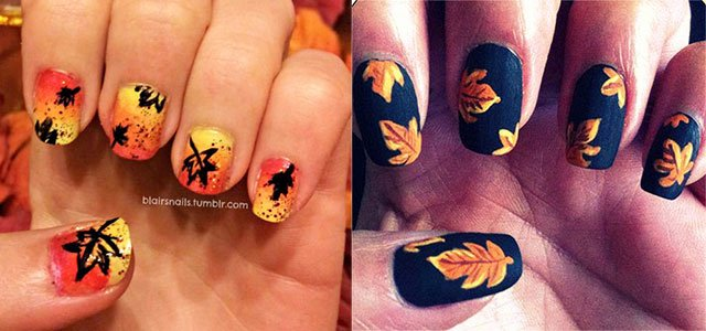 Cute Easy Fall Nail Designs Beautiful 15 Cute & Easy Fall Autumn Nail Art Designs & Ideas
