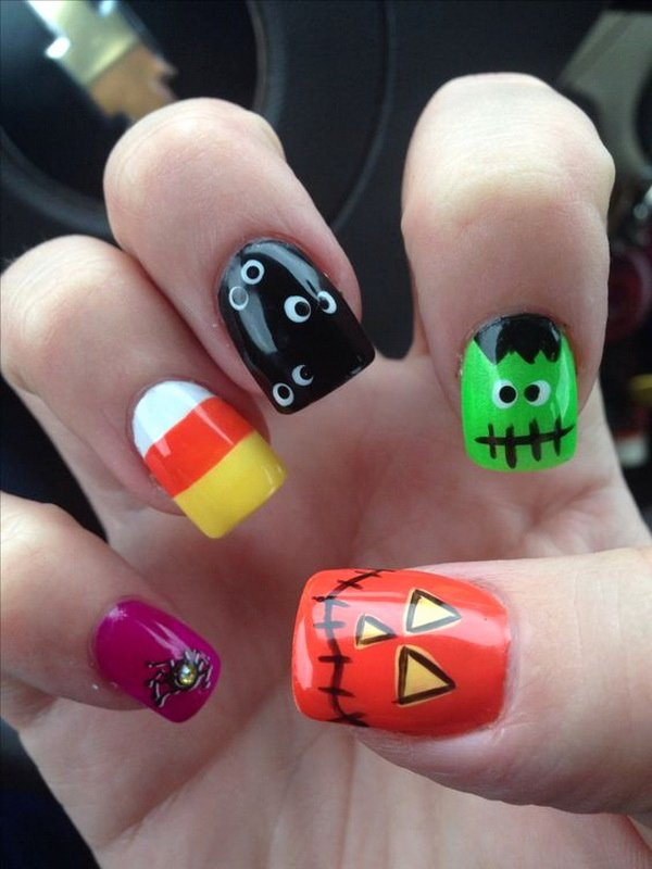 Cute Easy Fall Nail Designs Best Of 40 Cute and Spooky Halloween Nail Art Designs Listing More