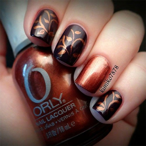Cute Easy Fall Nail Designs Unique 15 Cute & Easy Fall Nail Art Designs Ideas Trends