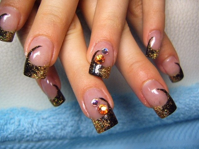 colorful fall nail art ideas 2620