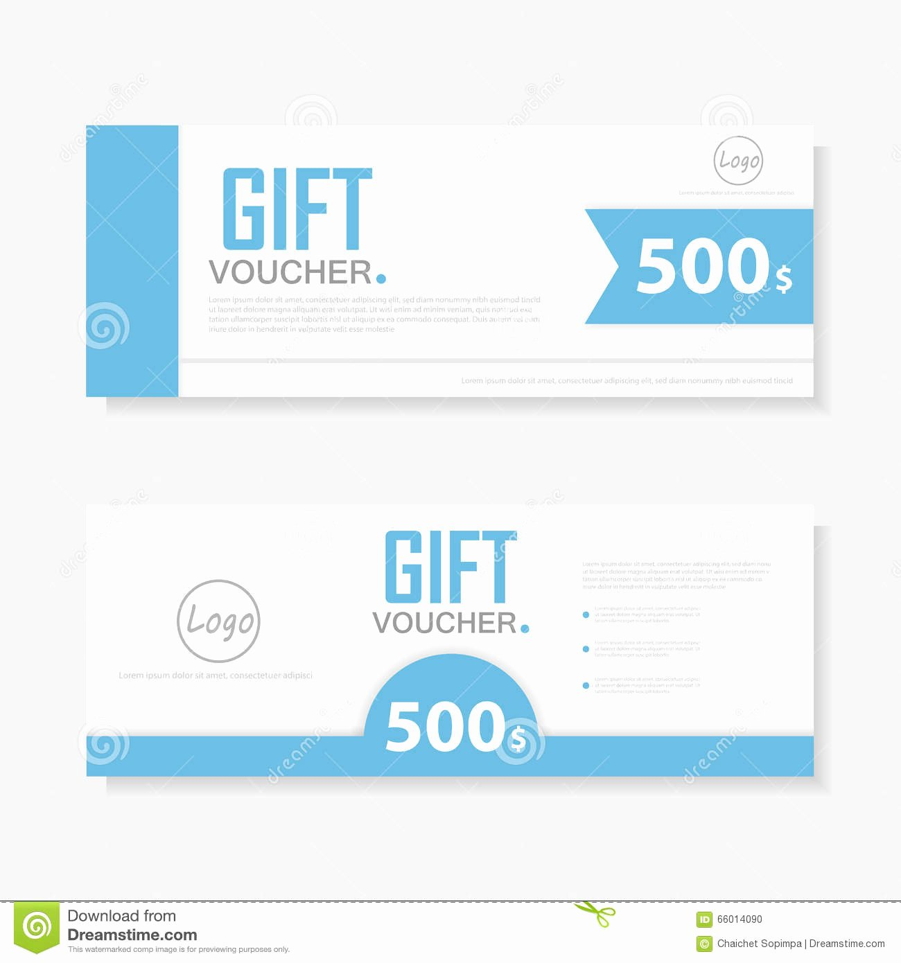 Cute Gift Certificate Template Awesome Blue Gift Voucher Template with Colorful Pattern Cute Gift