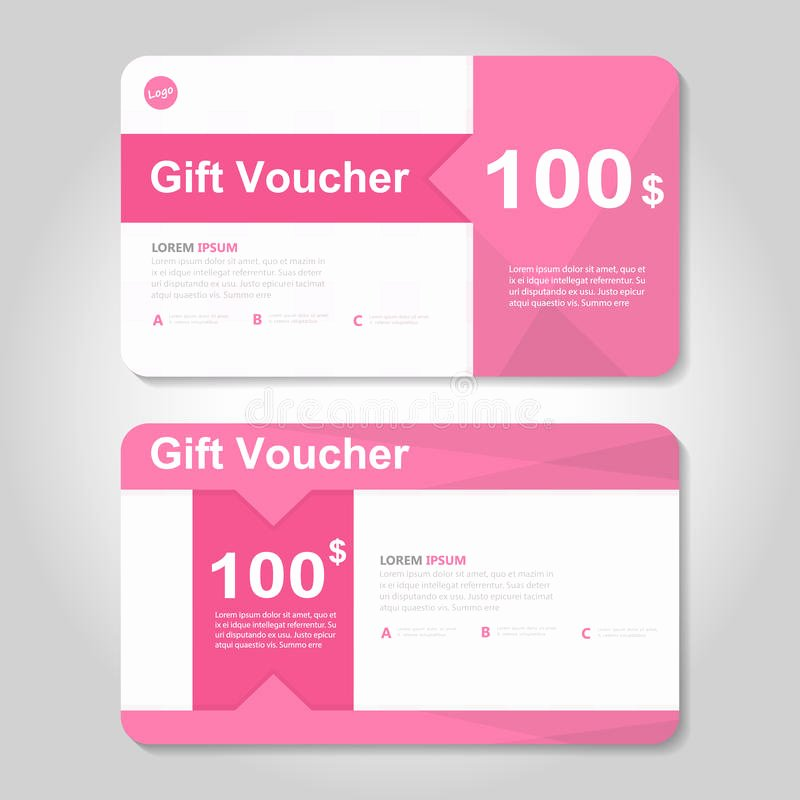 Cute Gift Certificate Template Beautiful Cute Pink and Gold Gift Voucher Template Layout Design Set