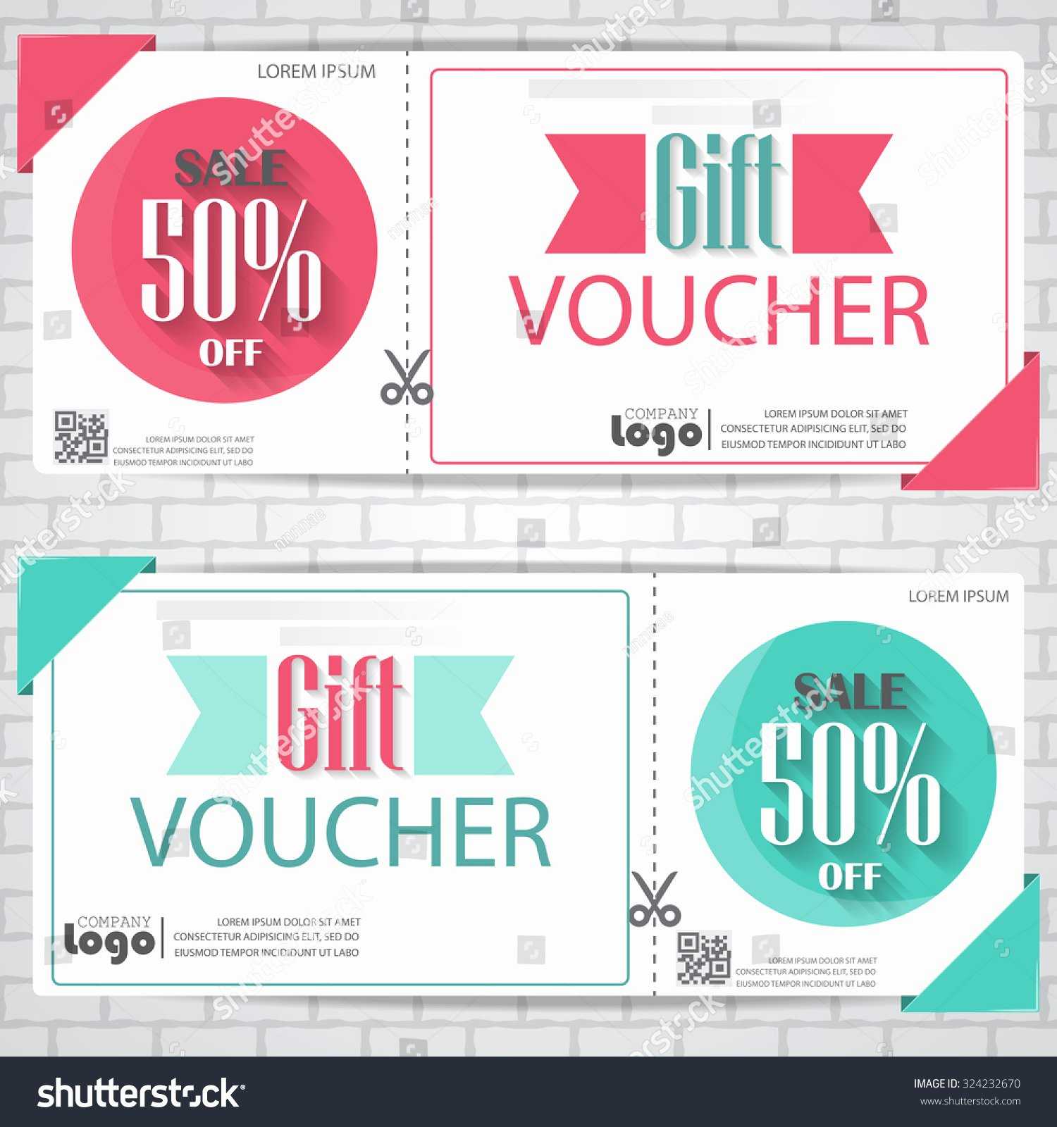 Cute Gift Certificate Template Best Of Gift Voucher Certificate Coupon Template Cute Stock Vector
