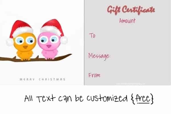 Cute Gift Certificate Template Elegant Christmas Gift Certificate Templates