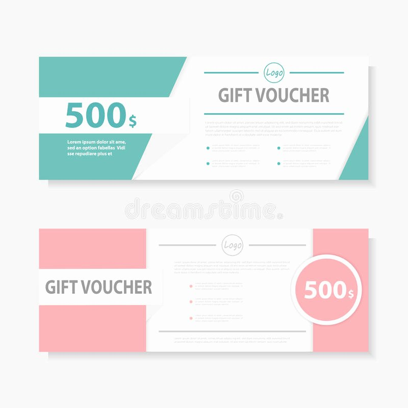 Cute Gift Certificate Template Elegant Green Pink Gift Voucher Template with Colorful Pattern