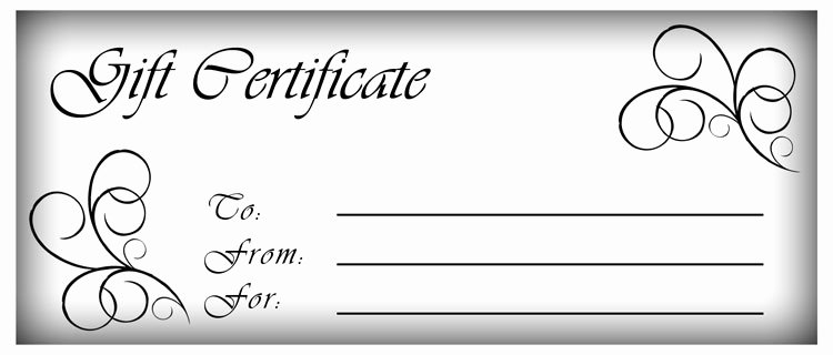Cute Gift Certificate Template Luxury Make Gift Certificates with Printable Homemade Gift