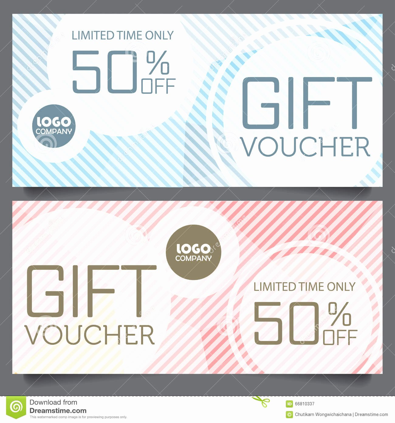 Cute Gift Certificate Template New Gift Voucher Certificate Coupon Template Stock Vector