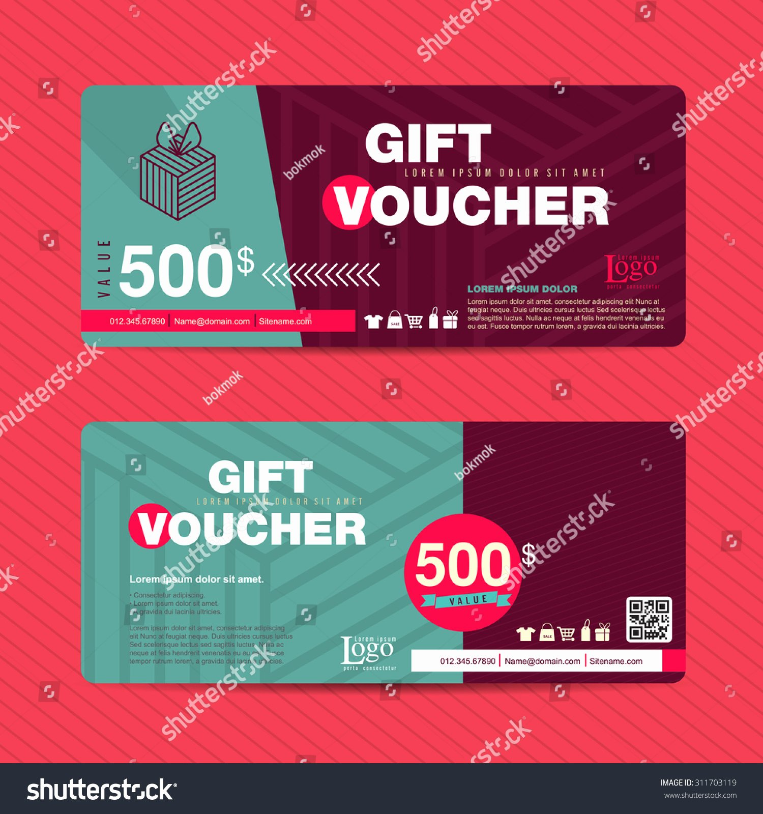 Cute Gift Certificate Template New Vector Illustration Gift Voucher Template with Colorful