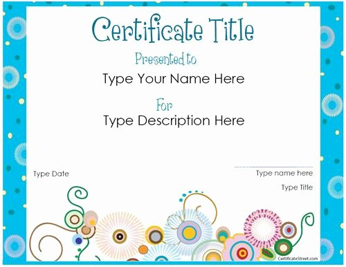 Cute Gift Certificate Template New Website Offering Free Printable Certificates for All sorts