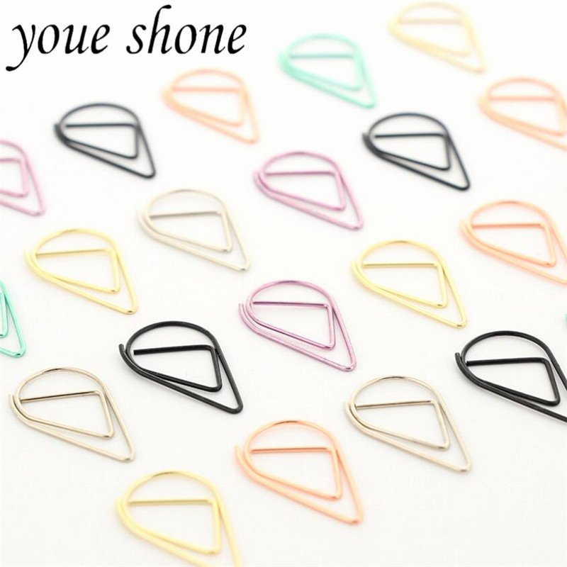 Cute Paper Clip Holder Lovely Aliexpress Buy 50pcs Lots 6 Colours Simple Metal