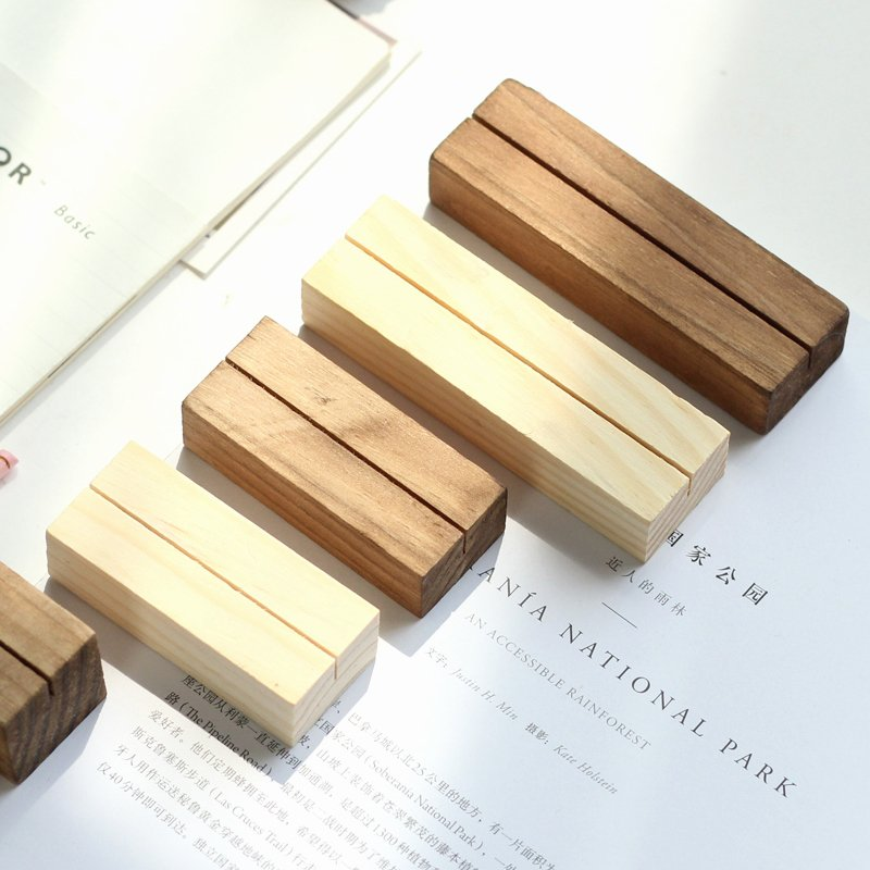 Cute Paper Clip Holder Lovely No Printing Engraved solid Wood Cute Memo Pincer Clips