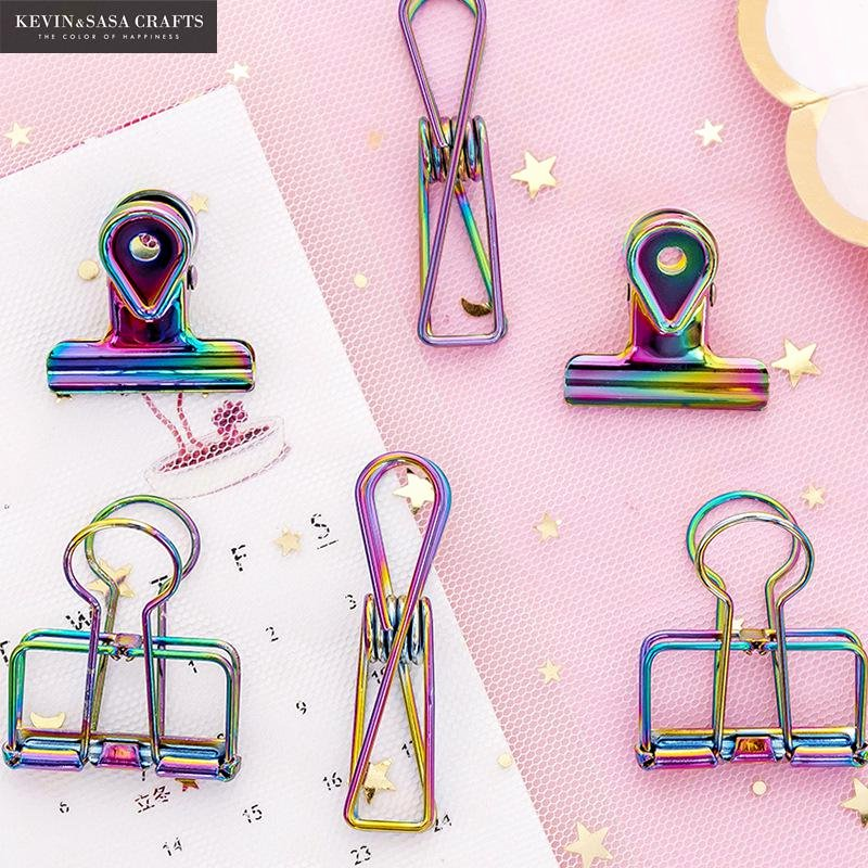 Cute Paper Clip Holder Unique New Iridescent Laser Paper Clips Quality Holder
