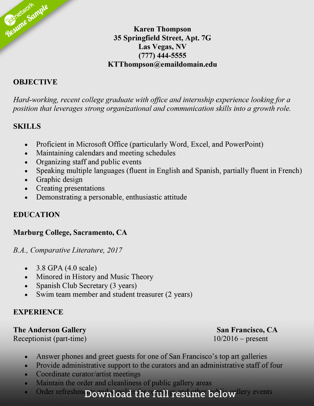 Cv Samples for Students Awesome How to Write A College Student Resume with Examples