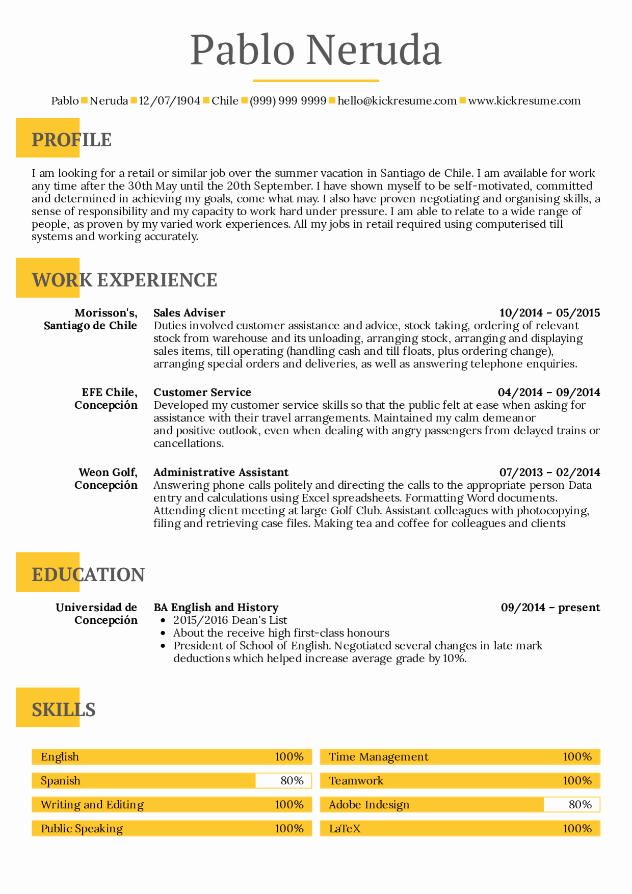 Cv Samples for Students Beautiful Resume Examples by Real People Student Resume Summer Job