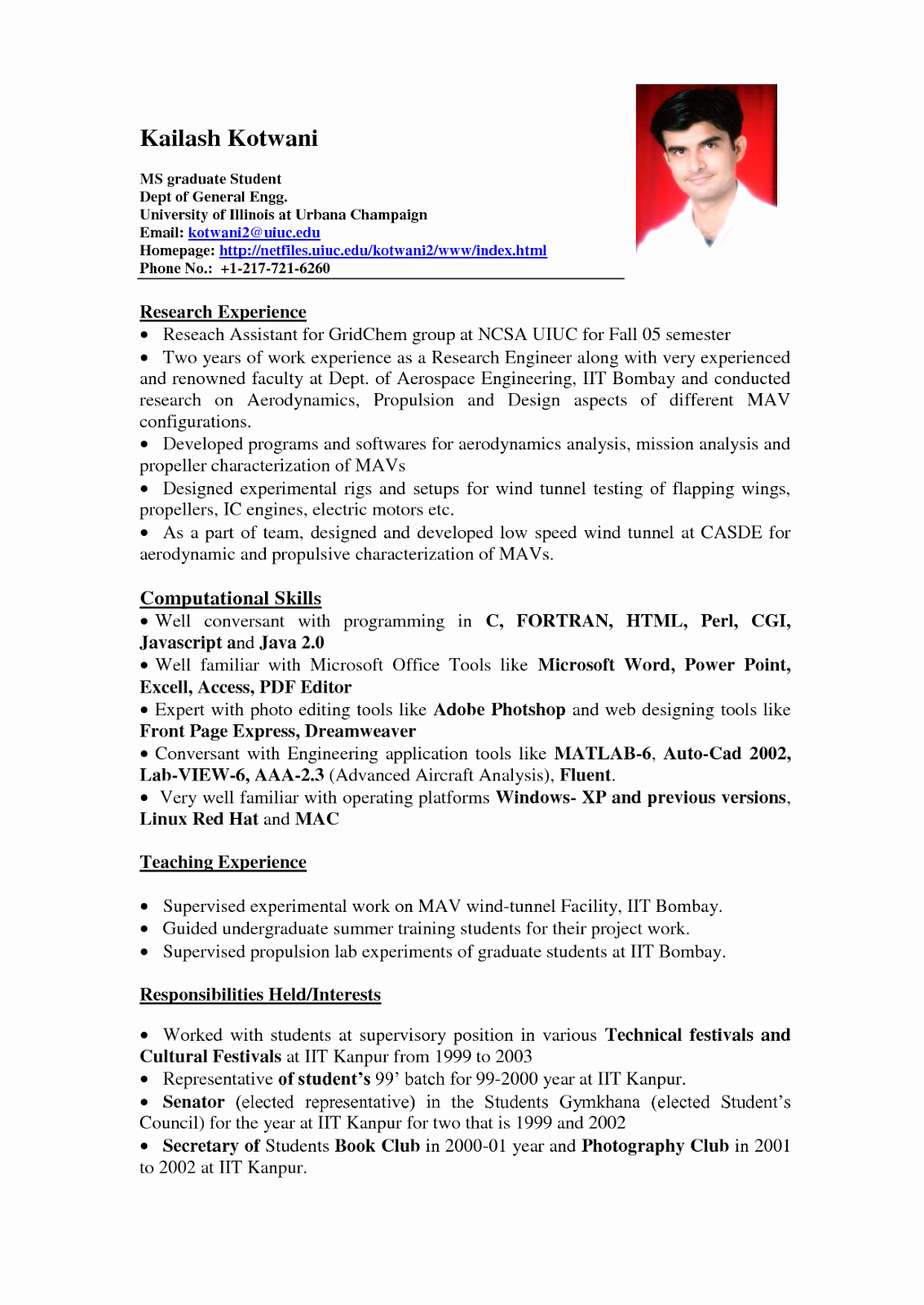 Cv Samples for Students Best Of Sample Resume format for Students