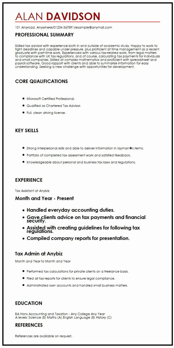Cv Samples for Students Luxury Cv Sample for Graduate Students Myperfectcv