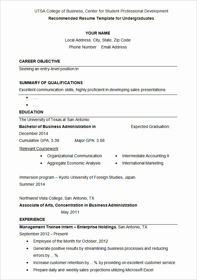 Cv Samples for Students Unique 24 Student Resume Templates Pdf Doc