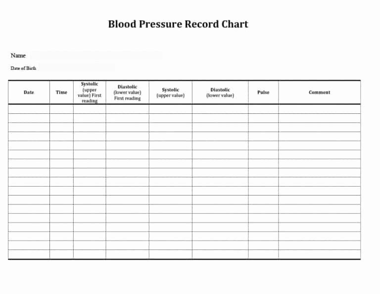 Daily Blood Pressure Log Luxury 56 Daily Blood Pressure Log Templates [excel Word Pdf]
