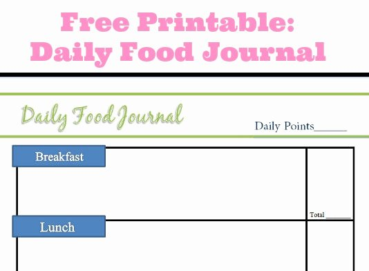 Daily Food Journal Printable Luxury Best S Of Daily Food Log Print Out Free Printable