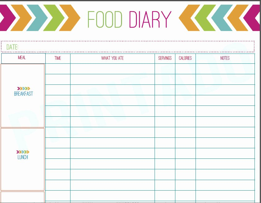 Daily Food Journal Printable New Best S Of Printable 7 Day Food Journal Free