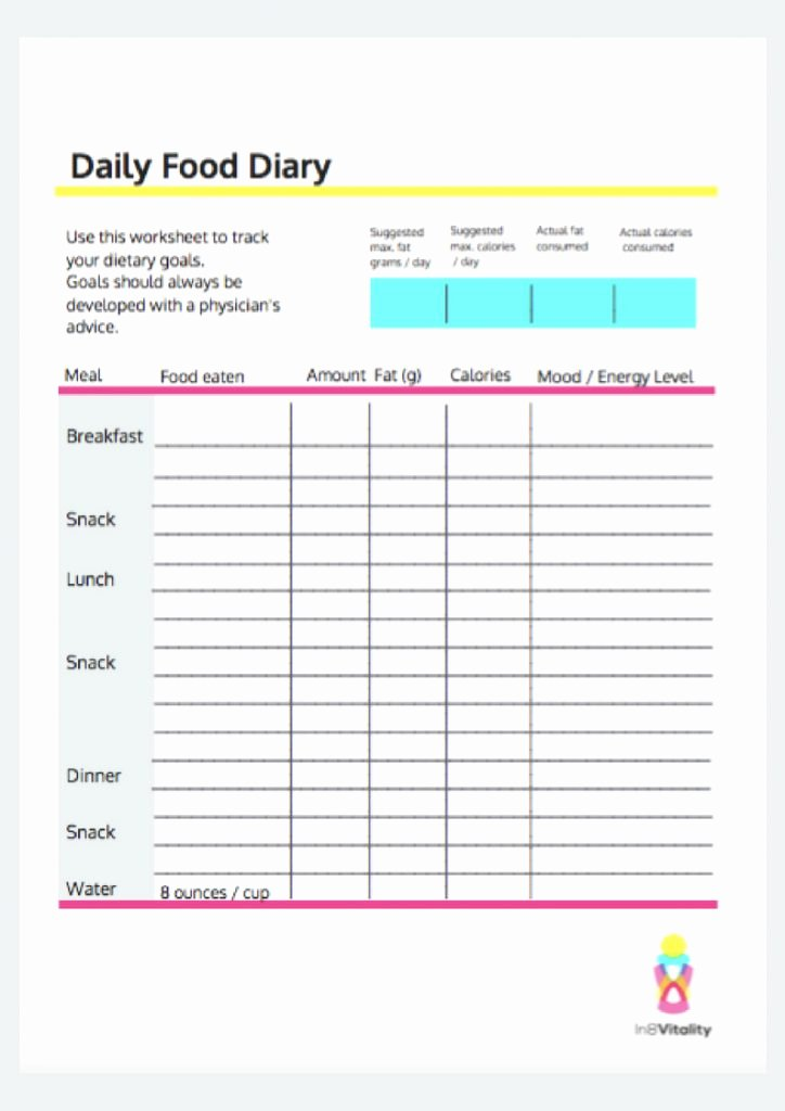 daily food diary