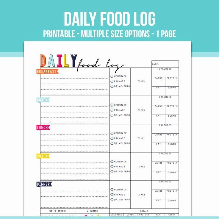 Daily Food Log Elegant 1000 Ideas About Food Log On Pinterest