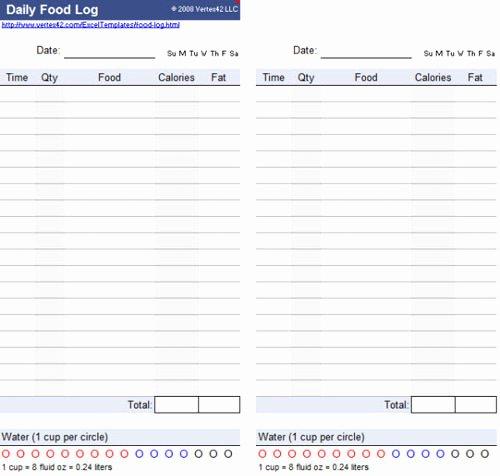 Daily Food Log Elegant Useful Microsoft Word & Microsoft Excel Templates Hongkiat