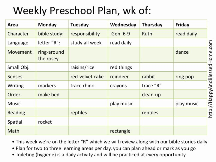 Daily Lesson Plan for Preschool Elegant Montessori Preschool with Montessori Planning Charts