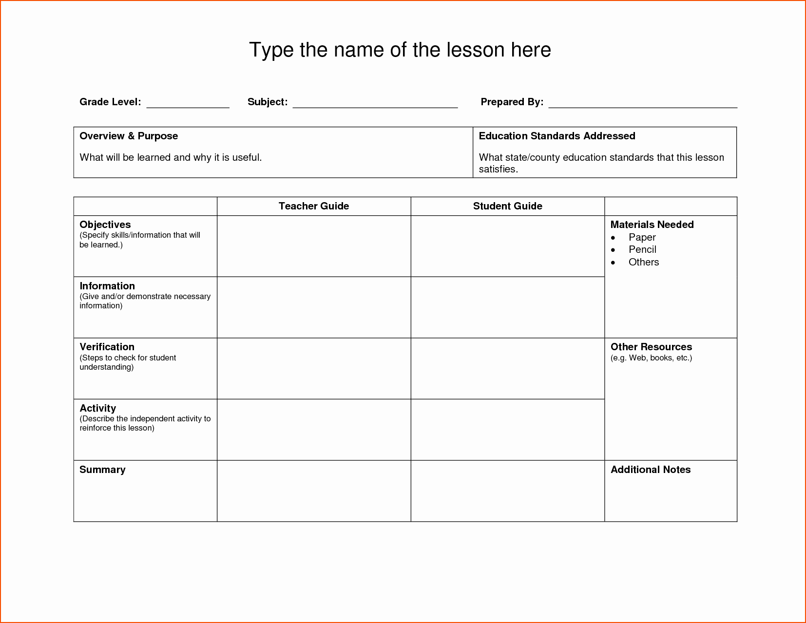 Daily Lesson Plan Template Doc Elegant 8 Lesson Plan Template Doc Bookletemplate