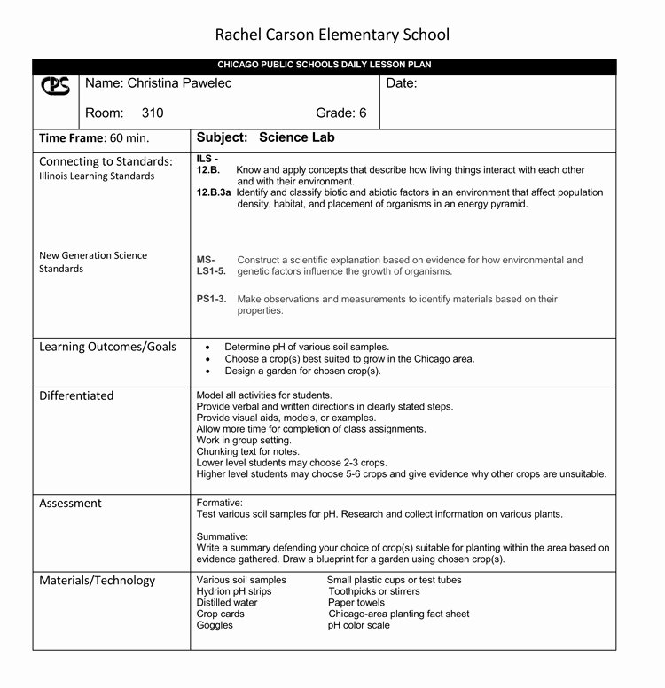 Daily Lesson Plan Template Doc Fresh 14 Free Daily Lesson Plan Templates for Teachers