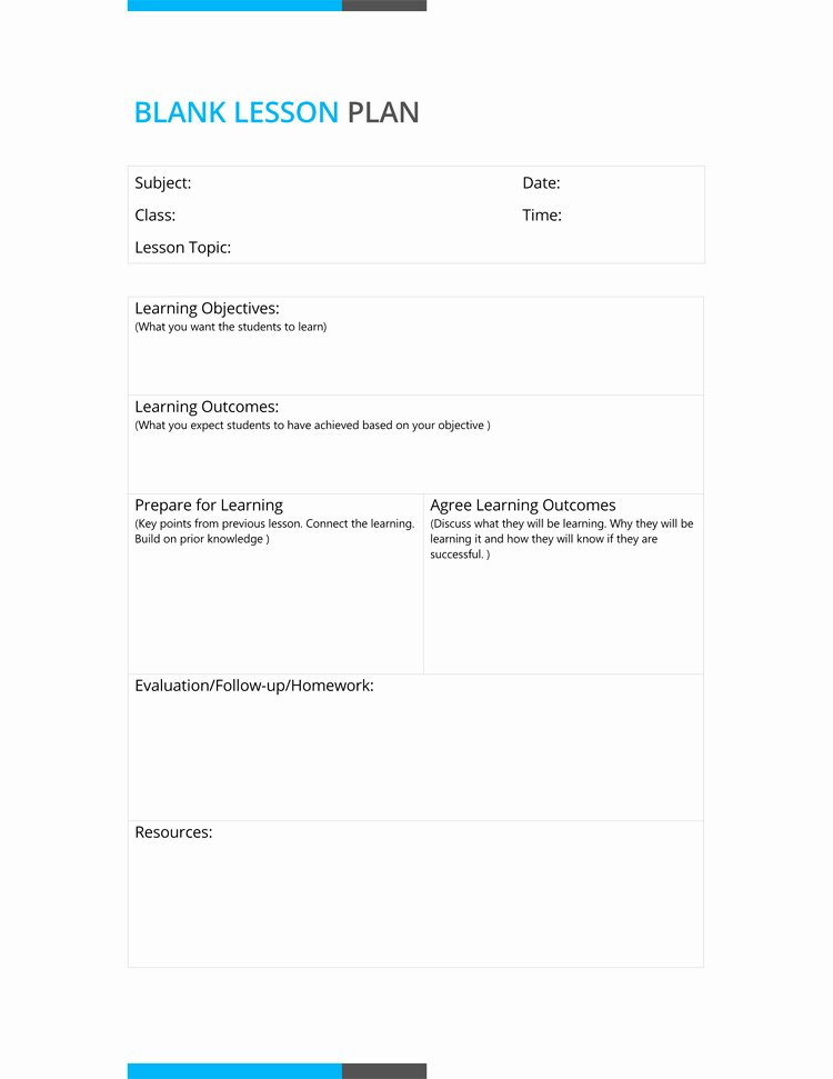 Daily Lesson Plan Template Doc Inspirational 14 Free Daily Lesson Plan Templates for Teachers