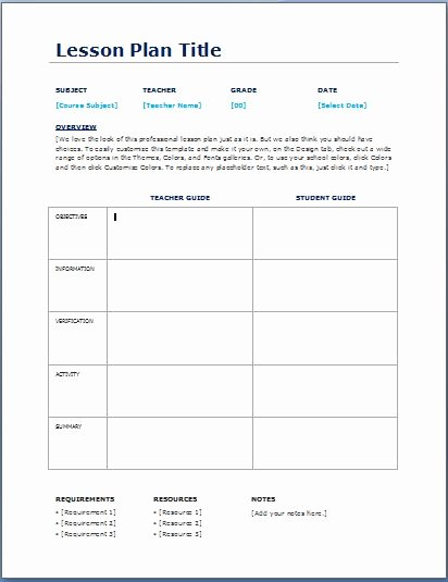 Daily Lesson Plan Template Doc New Teacher Daily Lesson Planner Template
